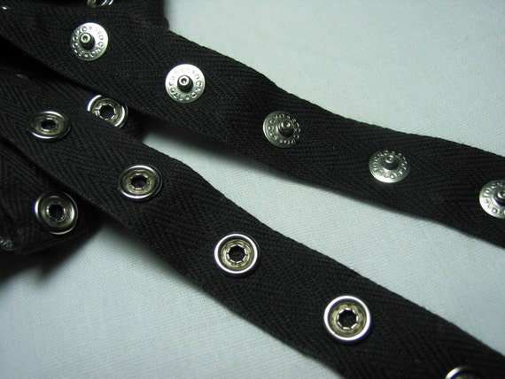 Snap tape Style A - 2 yards of black, white or hot pink