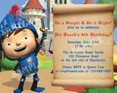 Mike the Knight Birthday -  DIY PRINTABLE Party INVITATION - 4x6 or 5x7