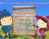 Mike the Knight & Evie Joint Birthday -  DIY PRINTABLE Party INVITATION - 4x6 or 5x7