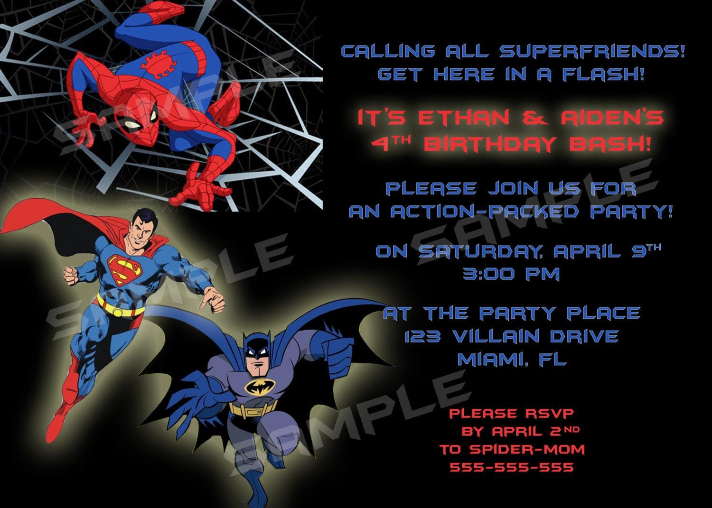 Superhero Birthday Party Invites is adorable invitation layout