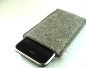 iPhone 4 case handmade  retro design  eco friendly grey Wool felt made in Germany avant-garde