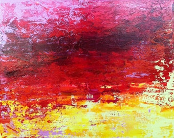Abstract Original Painting. 16x20x1.5 on stretched gallery canvas.  Ready to hang in your hip-contemporary space.