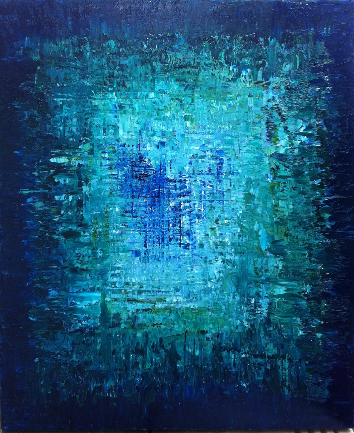 HOLD for brcishere Abstract Art Oil Original Painting Ocean