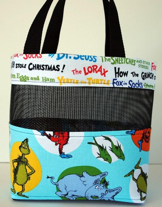 Small Dr Seuss Mesh Tote Bag