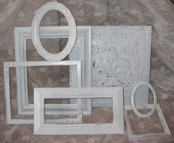 Picture Frame Collection Shabby Mantle Wall Decor