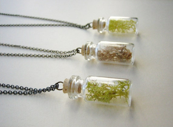 Natural Specimen Necklace- Moss