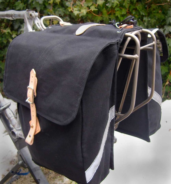 city roll up bicycle saddle bags panniers by laplanderbags