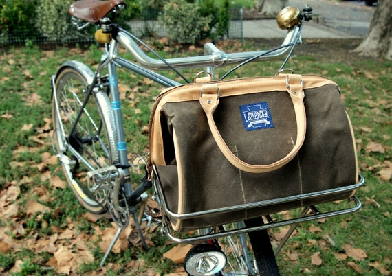 Journeyman Porteur Bag - Brown Waxed Canvas and Leather