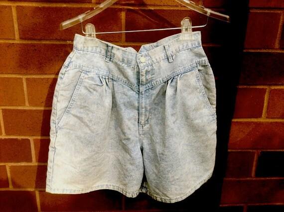 90s Gitano High Waist Acid Wash Jean Shorts  12