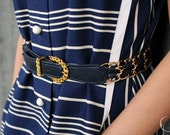 Navy and Gold Nautical belt