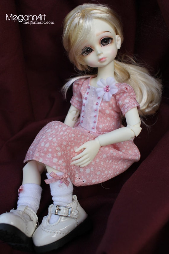SALE: Pink Polka Dot Outfit for YoSD sized BJDs