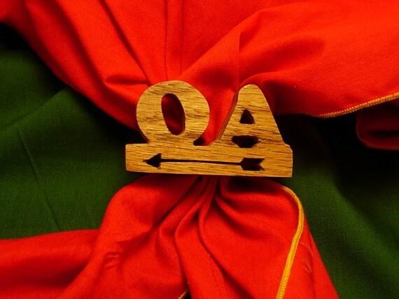 Boy Scout Solid Oak OA neckerchief Slide