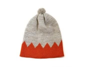 CROWN HAT (Oatmeal and Burnt Orange)