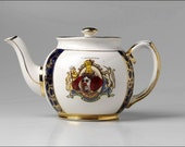 Altered Queen Elizabeth Coronation Teapot