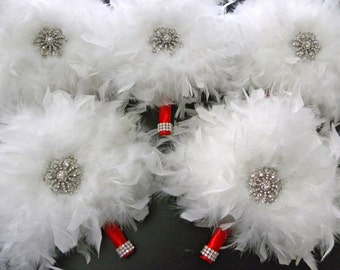 12 piece Feather Bridal Package