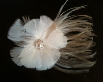 Ostrich feather fascinator