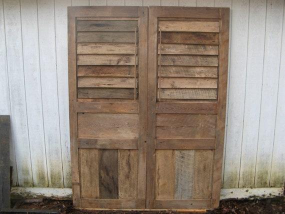 Shutter Doors Reclaimed Woods (Handmade)