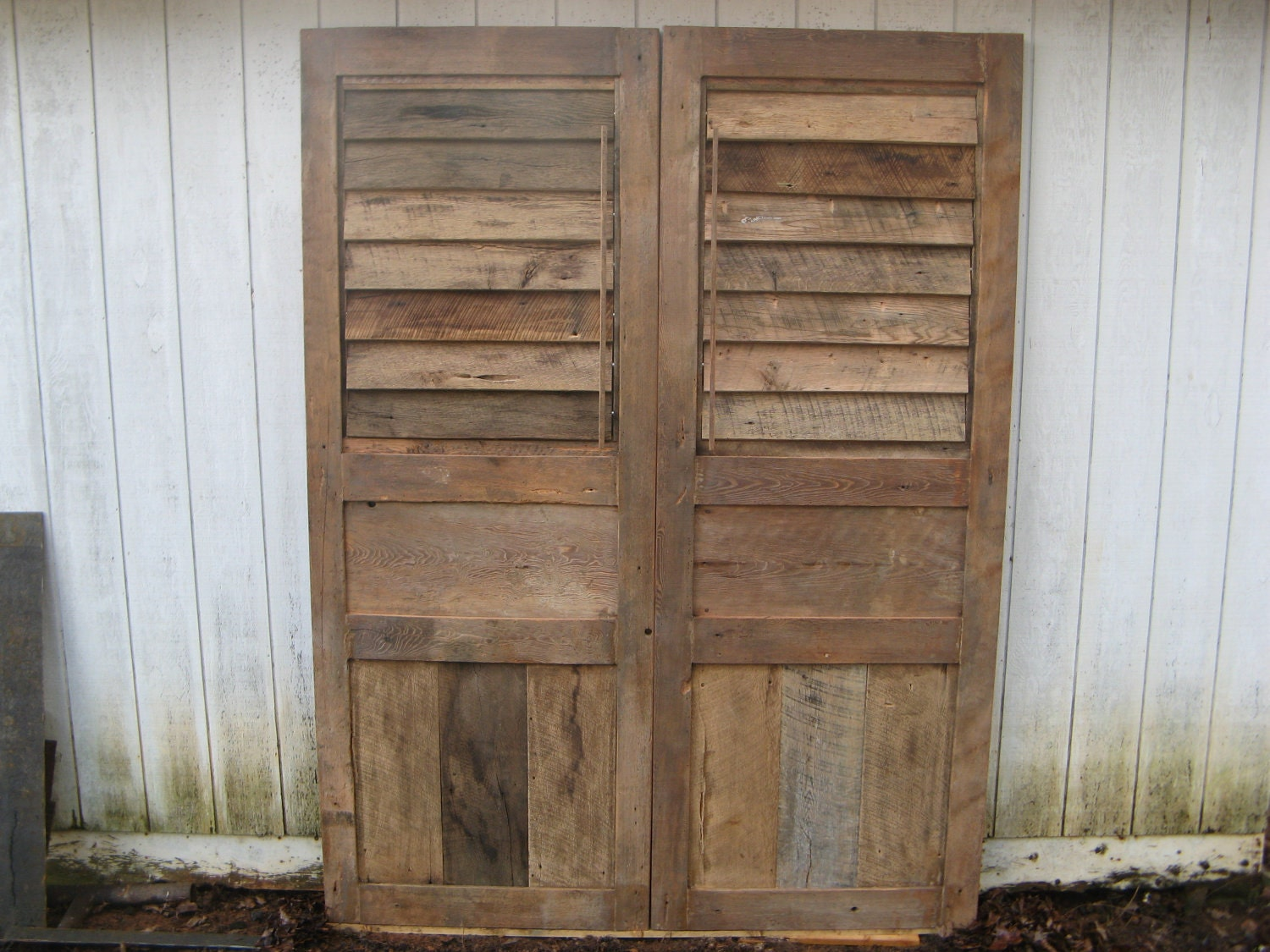 Shutter doors barn doors reclaimed woods handmade for Wood doors and shutters