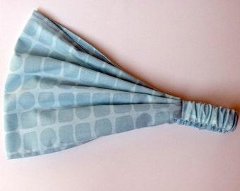 Yoga Headband - Snakeskin in Aqua - Michael Miller fabric