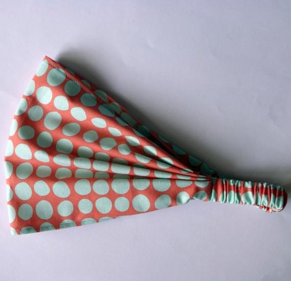 Headband - Amy Butler Sunspots in Tangerine fabric