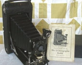 Antique Folding Kodak Camera Autographic with Directions