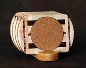 Maple Wood Coaster w\/Cork