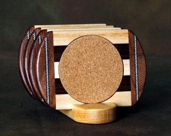 Walnut Wood Coaster w\/Cork