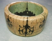 Boho Chic French Bangle with Chandeliers and Eiffel Tower