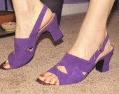 Bandalino Purple Suede Sandals 9 s