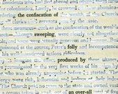 Found Text Poem on Altered Book Page / Mock