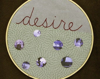 Desire / Hand Embroidery and Vintage Photo Collage