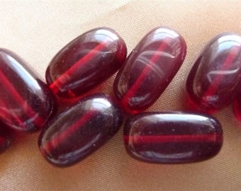 SALE!! Bead, Glass, Red, Medium nugget, Pkg Of 6  SALE!!