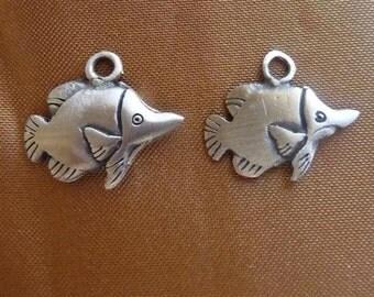 SALE!! Charm, ZincRich Pewter, 18x12mm, Fish, Pkg Of 3 SALE!!
