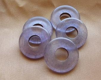 SALE!! Component, acrylic, matte blue, 24mm, donut Sold per, pkg of 5 SALE!!