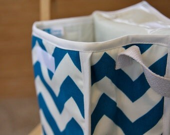 Reusable Lunch Bag - Chevron Turquoise