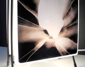 Glass Photo Lamp - Small Size - Two different pieces of art in one lamp