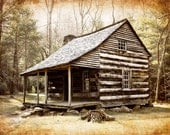 Cades Cove Cabin - Fine Art Photograph - Great Smoky Mountains - Tennessee - Rustic Wall Art