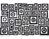 Circles and Squares Block Print