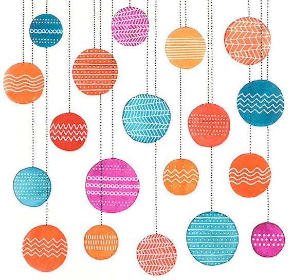 Party Lanterns Illustration