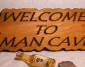 MAN CAVE Wood Carving