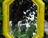 Mirror Distressed Yellow Green