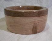 Segmented Maple, Walnut and Veneer Bowl (184)