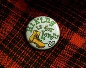 Hiking is For Lovers - 1 inch pinback button