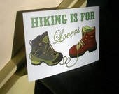 Hiking is For Lovers - Individual Postcard