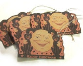 Vintage Inspired Halloween Tag Set H16