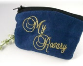 First Communion Boys Cloth Rosary Case Rosary Pouch Navy