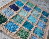 Colorful Granny Square Patchwork Blanket - Boy - 20 Different Color Blocks