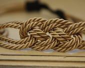 Small Gold Nautical Knot Rope Sailor Headband
