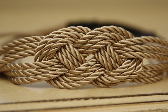 Gold Nautical Knot Rope Sailor Headband