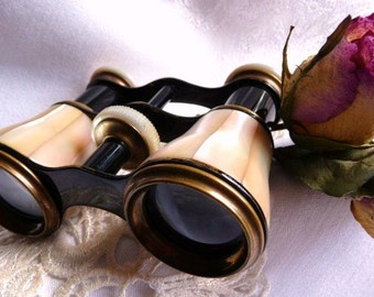 Antique French opera glasses | mother of pearl | vintage optics | 1850 1900